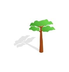Pine tree icon isometric 3d style vector image