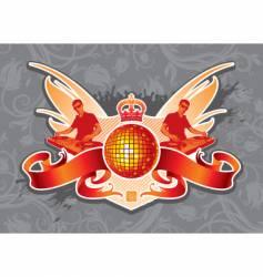 disco emblem vector image