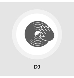 Vinyl disc flat icon vector
