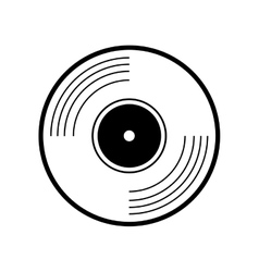 Vinyl design music and sound icon graphic vector
