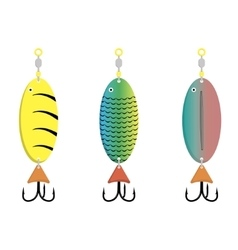 Bait fish on a white background vector