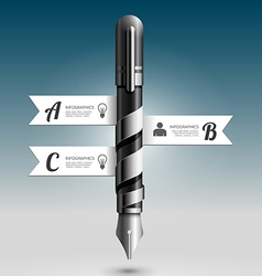Abstract 3d Ink Pen Infographic Design vector image vector image