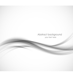 Abstract gray wavy background vector image vector image