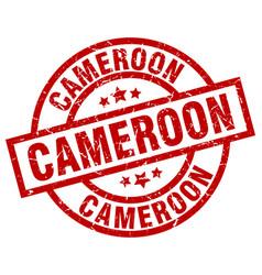 Cameroon red round grunge stamp vector