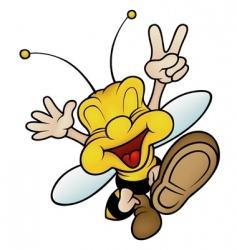 Cartoon wasp vector