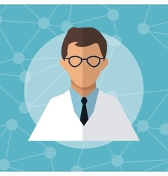 Character doctor scientist professional vector