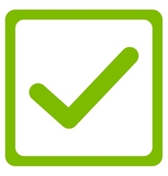 Checkbox icon from business bicolor set vector