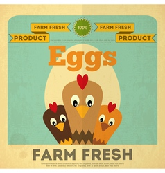 Chicken and Egg vector image