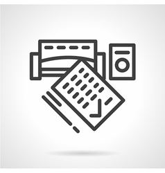 Consumer credit black line icon vector