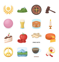 drink fan food and other web icon in cartoon vector image vector image