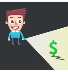 Find a way to make money vector image vector image