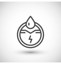 Generation of electricity line icon vector