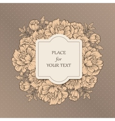 Handdrawn poster with place for your text vector image vector image