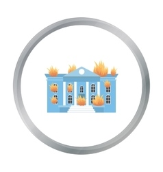 House on fire icon cartoon Single silhouette fire vector image