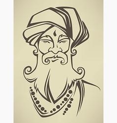 Indian man vector