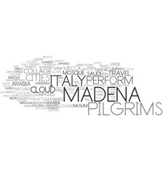 Madena word cloud concept vector