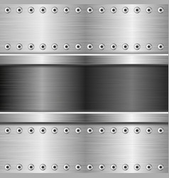Metal texture with rivets vector