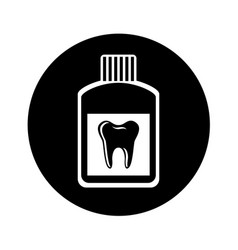 Mouthwash dental isolated icon vector