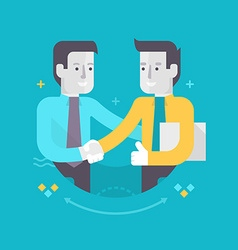 Partnership and Cooperation in Business vector image vector image