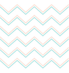 Pastel mint and pink chevron pattern modern vector