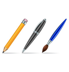 Pen tools isolated on the white background vector image vector image