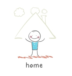 person in the house vector image vector image
