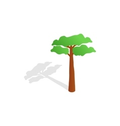 Pine tree icon isometric 3d style vector image vector image