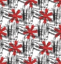 seamless akva red zvety vector image