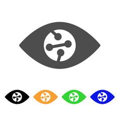 Smart contact lens flat icon vector