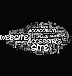 The bread and butter of website accessibility vector