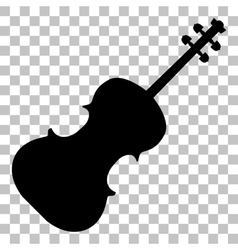 Violine sign Flat style black icon vector image vector image
