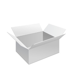 White box isolated vector image