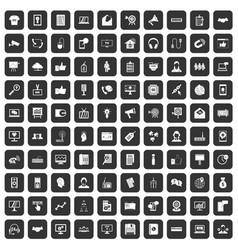 100 data exchange icons set black vector