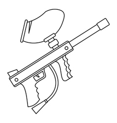 Paintball gun iconoutline style vector image