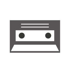 Cassette record isolated icon vector