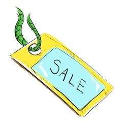 Sale luggage tag icon vector