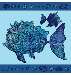 Abstract cartoon sea fish vector