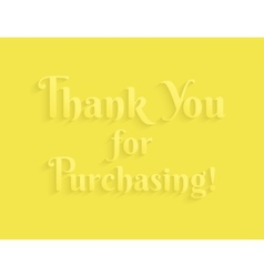 Thank you message vector image