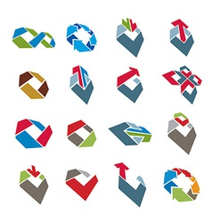 Abstract creative icons collection abstract vector