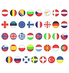 Flags of european countries vector
