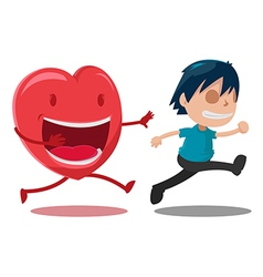 Man scarper love cartoon character vector