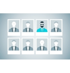 Proffessional staff research business concept of vector