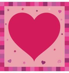 heart greeting card vector image