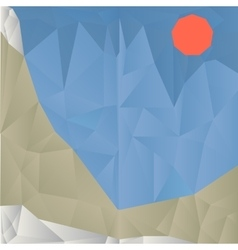 Triangle mountain geometric background vector