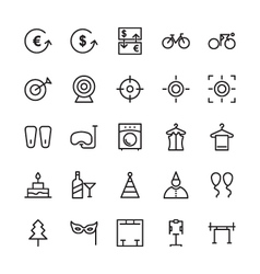 Hotel Outline Icons 19 vector image