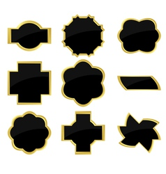 black and golden frames vector image