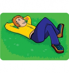 boy relaxing vector image