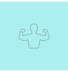 Bodybuilder Fitness Model icon vector image