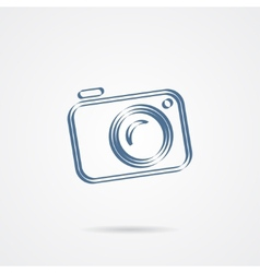 Camera icon isolated on a white background vector image