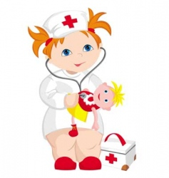 child doctor vector image vector image